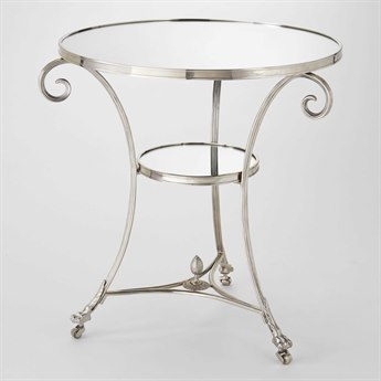 Global Views Nickel 30'' Wide Round End Table GV8933