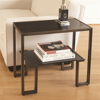 Global Views Bronze 28'' Wide Rectangular End Table GV991081