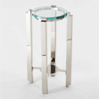 Global Views Nickel 13'' Wide Round End Table GV991572
