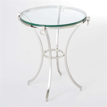 Global Views Nickel 21'' Wide Round End Table GV992038
