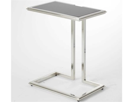 Global Views Stainless Steel 16'' Wide Rectangular End Table GV992486