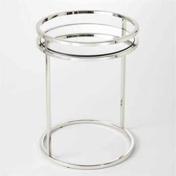 Global Views Nickel 18'' Wide Round End Table GV992525