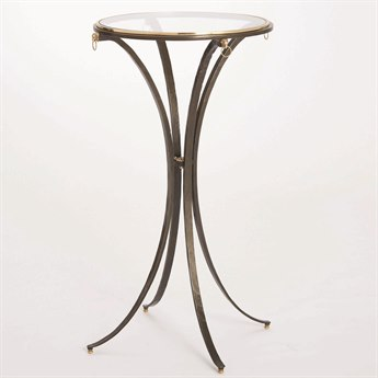 Global Views Natural Iron / Brass 18'' Wide Round End Table