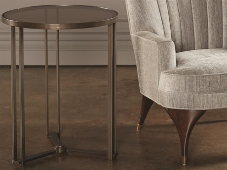 Global Views Bronze 20'' Wide Round End Table