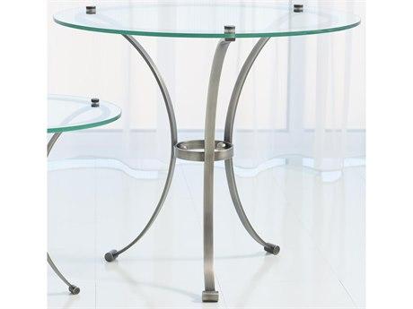 Global Views Gunmetal / Nickel 30'' Wide Round End Table GV993196