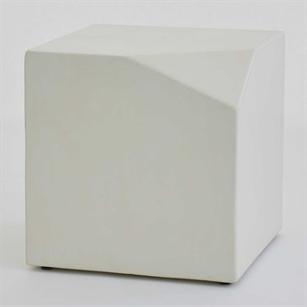 Global Views Polyurethane Lacquer / Ivory Polished W/wax 20'' Wide Square End Table