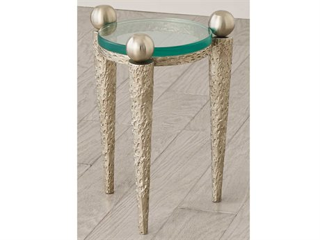 Global Views Nickel 11''W x 16''H Round End Table GVEN990005
