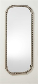 Global Views Forged Pearl Nickel 23.5'' x 52.5'' Rectangular Wall Mirror GV490125