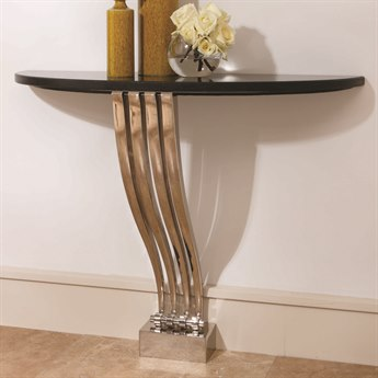 Global Views Graceful Nickel 40.5'' x 12.5'' Rectangular Console Table GV991565