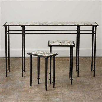 Global Views Grand Hall Bronze 60'' x 16'' Rectangular Console Table