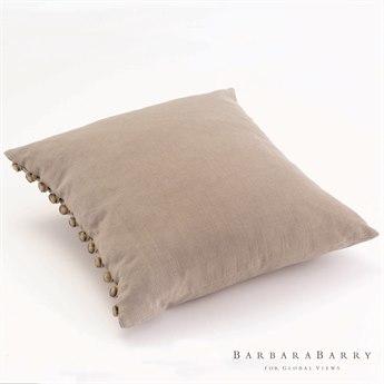 Global Views Horn Bark Button Pillow