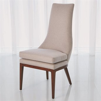 Global Views Isabella Candid Fleece Dining Side Chair