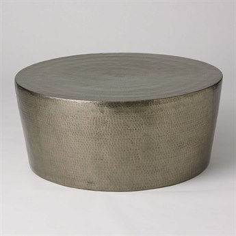 Global Views Izmir Hammered Antique Nickel 48'' Round Large Cocktail Table GV790352