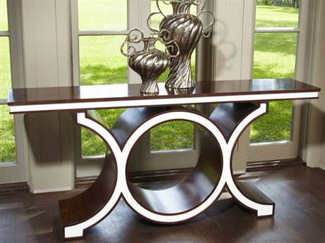 Global Views Link Walnut / Ivory 72'' x 15'' Console Table GV2470