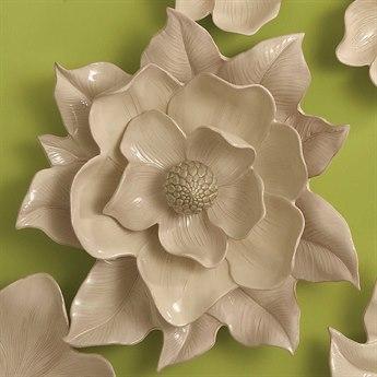 Global Views Ivory Magnolia Wall Flower