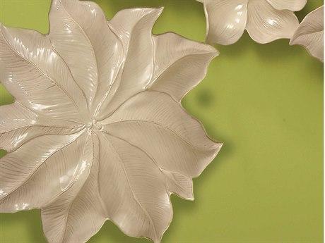Global Views Ivory Magnolia Large Platter GV330589