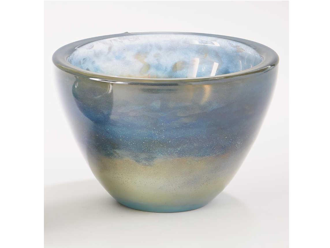 Global Views Mesa Blue Gelp Large Decorative Bowl   GV20