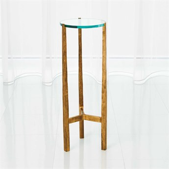 Global Views Oculus Antique Gold 8.25'' Round End Table