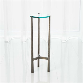 Global Views Oculus Natural Iron 8.25'' Round End Table