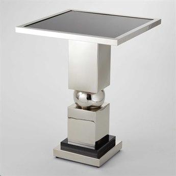 Global Views Nickel 20'' Wide Square Pedestal Table GV992223