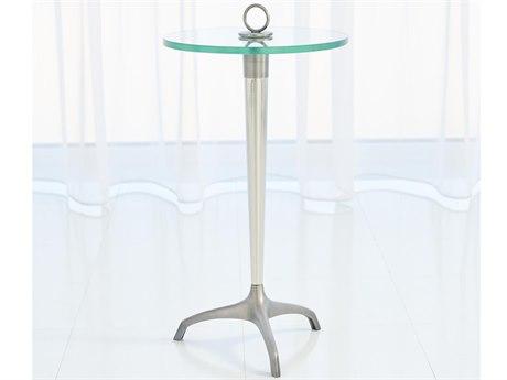 Global Views Gunmetal / Nickel 12'' Wide Round Pedestal Table GV993187