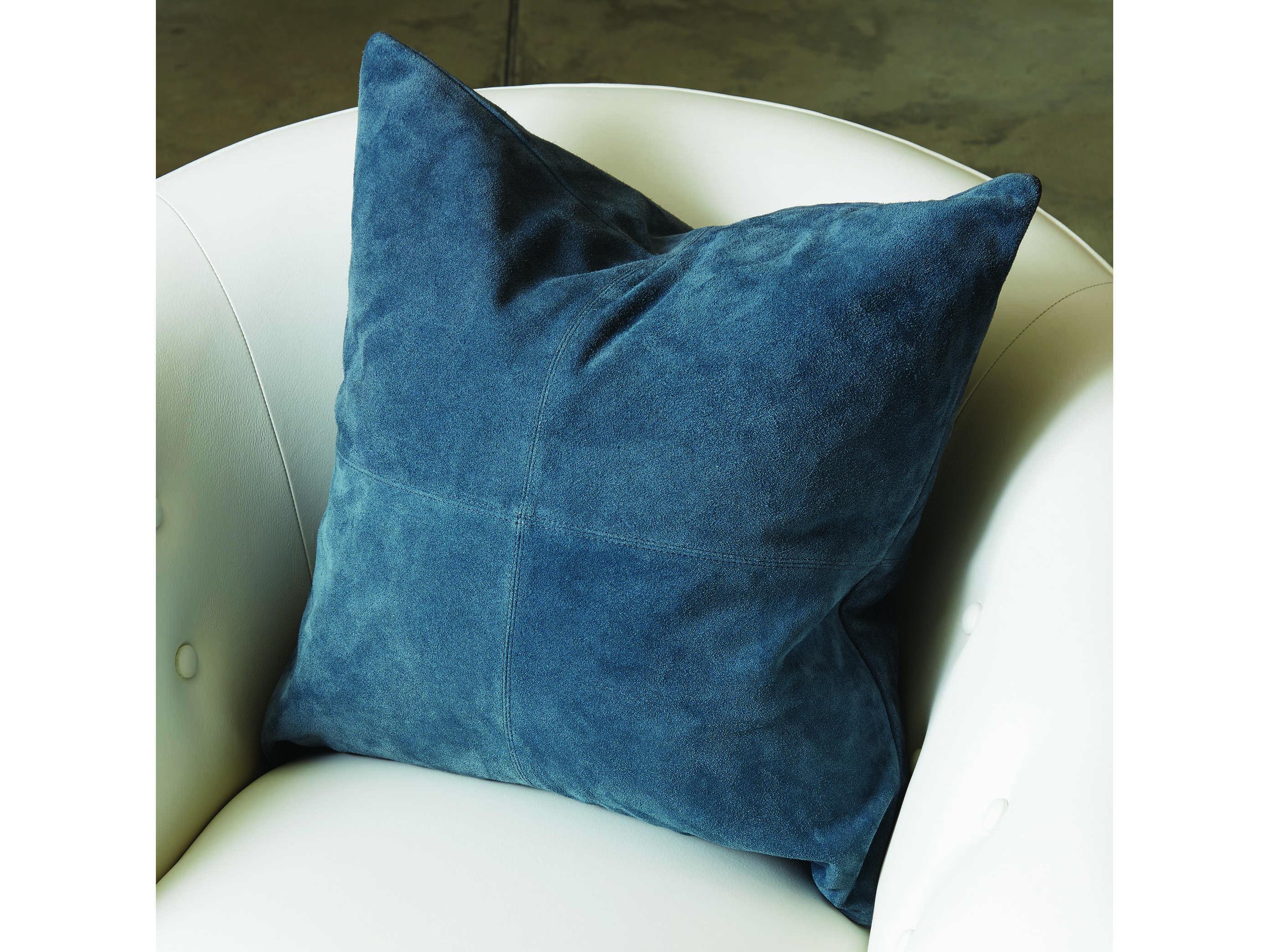 Global Views Four Square Sapphire Pillow