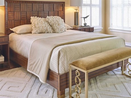 Global Views Brass Queen Platform Bed