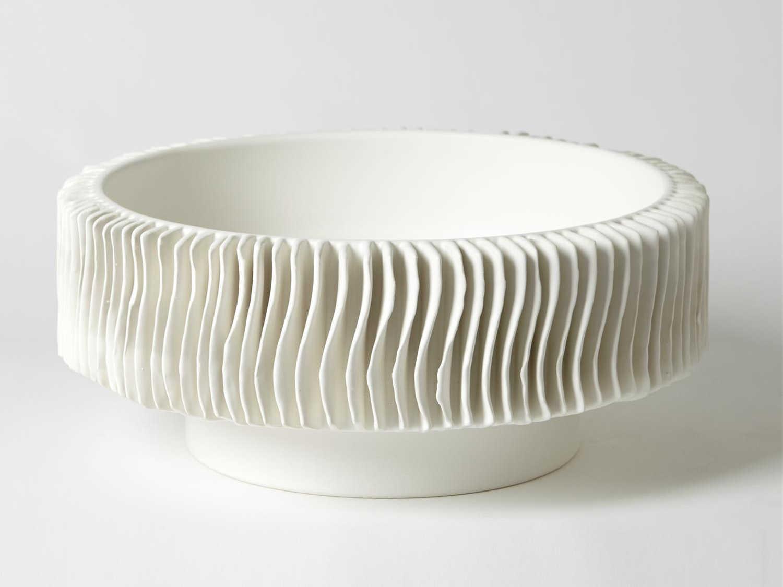 Global Views Raditor Matte White Decorative Bowl