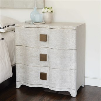Global Views Antique Brass 3 Drawers Nightstand GV720053
