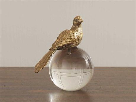 Global Views Put a Bird on It Brass Sculpture