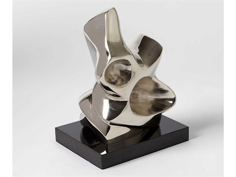 Global Views Abstract Figural Large Nickel Sculpture