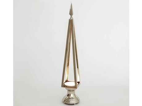 Global Views Open Obelisk Nickel Sculpture