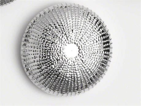 Global Views Nickel Sea Urchin Medium Wall Sculpture