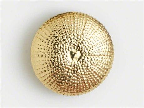 Global Views Gold Sea Urchin Small Wall Sculpture