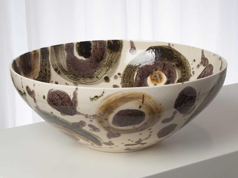 Global Views Spots Earthtone Decorative Bowl