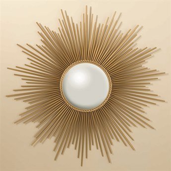 Global Views Sunburst Gold 39.5'' Round Wall Mirror