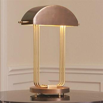 Global Views Brass / Bronze Table Lamp
