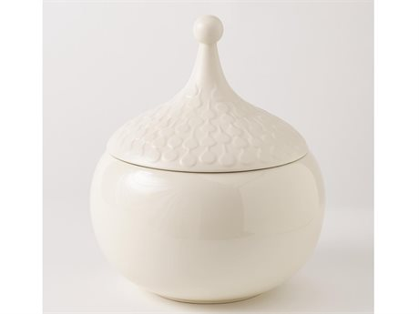 Global Views Teardrop Chalk Large Vase