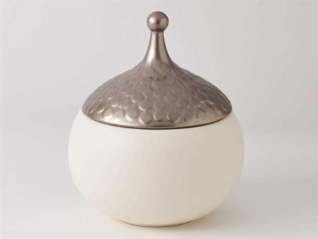 Global Views Teardrop Snow Medium Vase