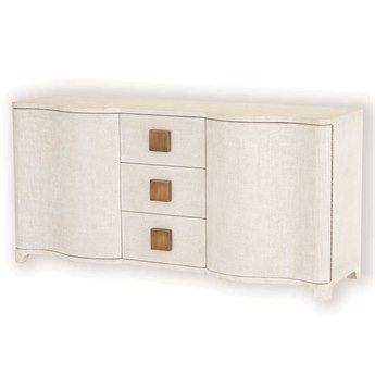 Global Views Toile Linen Credenza American White Oak 66''x 20'' Credenza