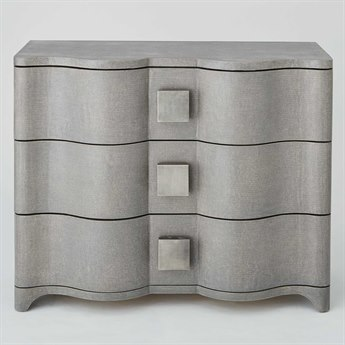 Global Views Grey Toile Linen Chest
