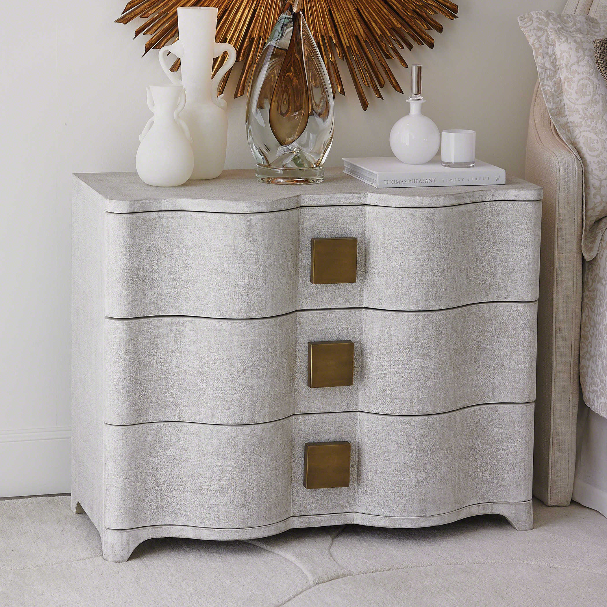 Global Views Chest: Global Views Toile Linen Chest