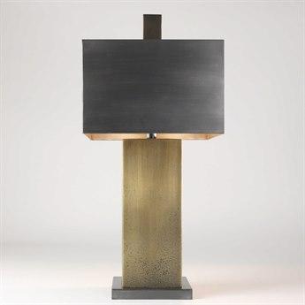 Global Views Tortoise Two-Light Brass Table Lamp GV790361