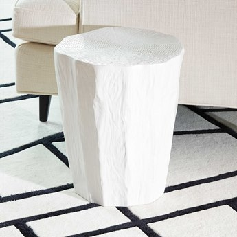 Global Views White Trunk Stool GV110458
