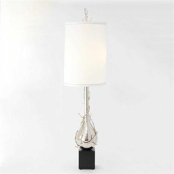 Global Views Twig Bulb Nickel Two-Light Floor Lamp GV991796