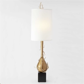 Global Views Twig Bulb Brass Two-Light Floor Lamp GV991964