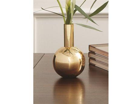 Global Views Single Bottle Brass Vase