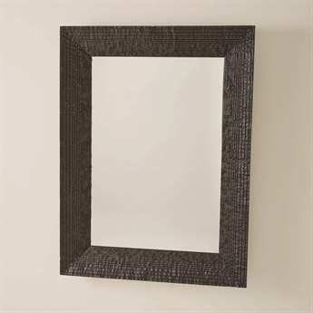 Global Views Jagged Gmelina Black Wall Mirror