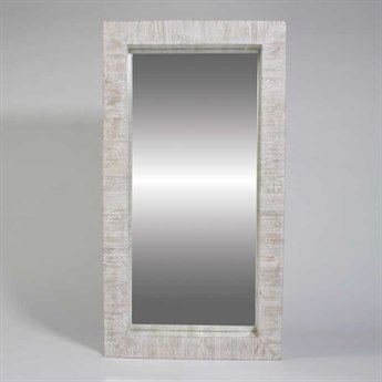 Global Views White Washed Wall Mirror