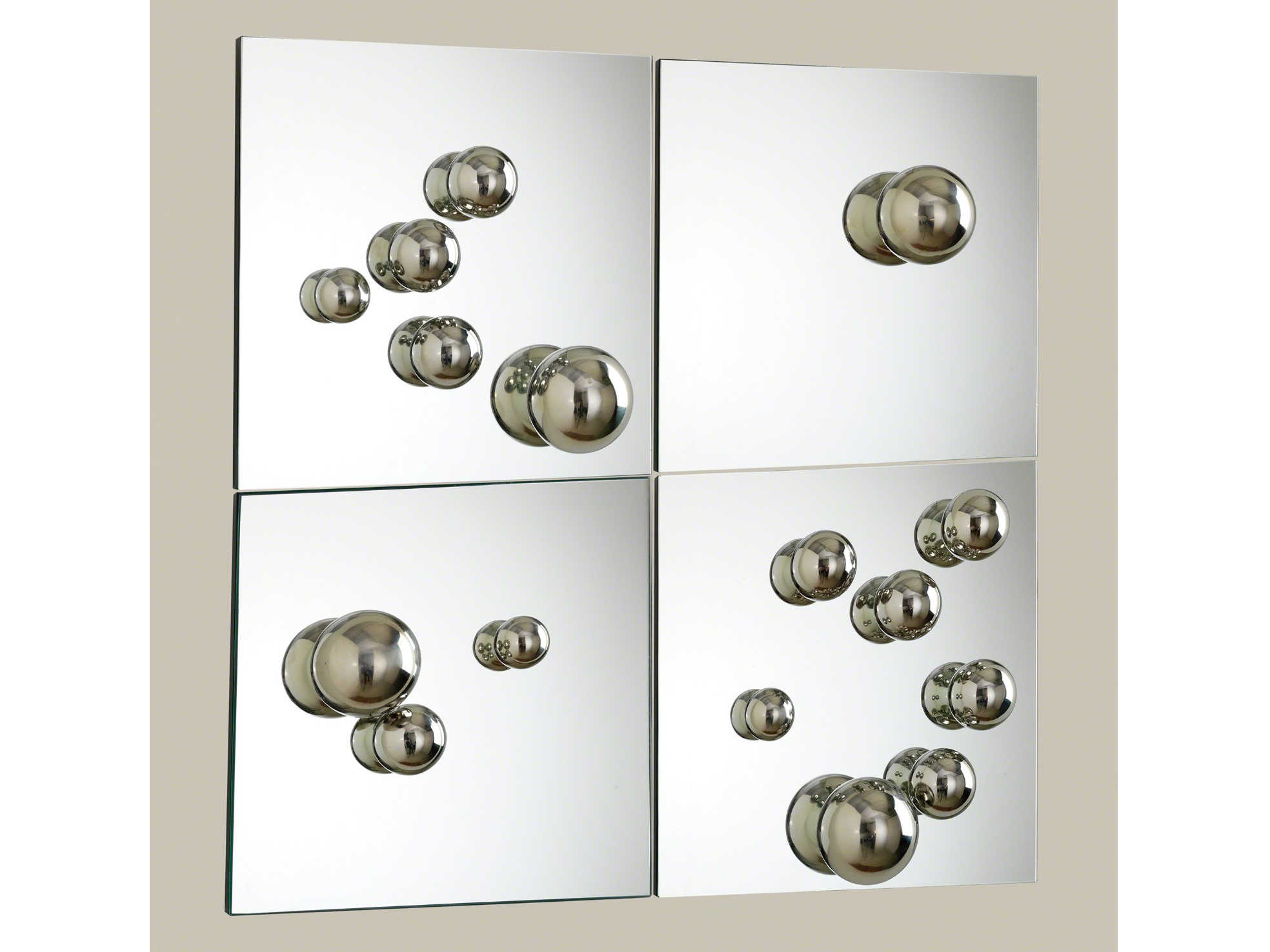 Global Views 20'' Wide Square Wall Mirror Set of 20